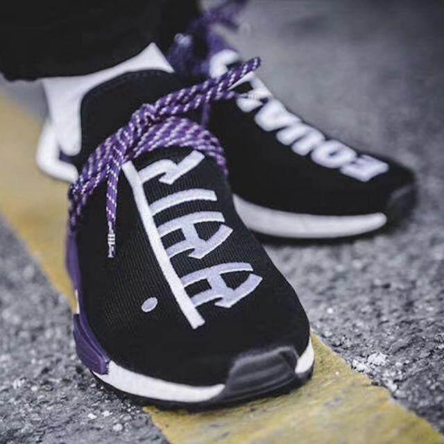 การใช้งาน  จันทบุรี คลังสินค้าพร้อมPharrell Willams Adidas Originals [ผงสีตกแต่งเล็บ Dye] Hu NMD Trail