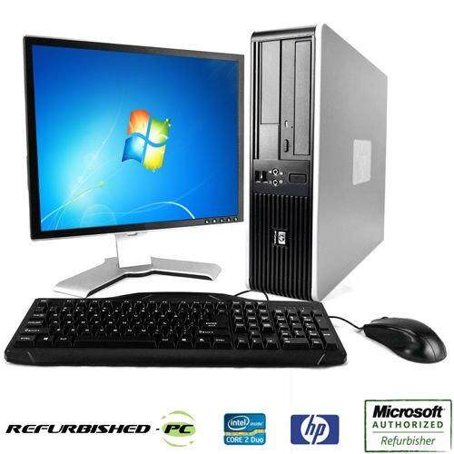 Full Set Pc Hp Dc5800 Desktop Core 2 Duo 2.66ghz /hdd160gb/ram 4gb/lcd 17 Square/keyboard/mouse/window 7 By Ajesolution.