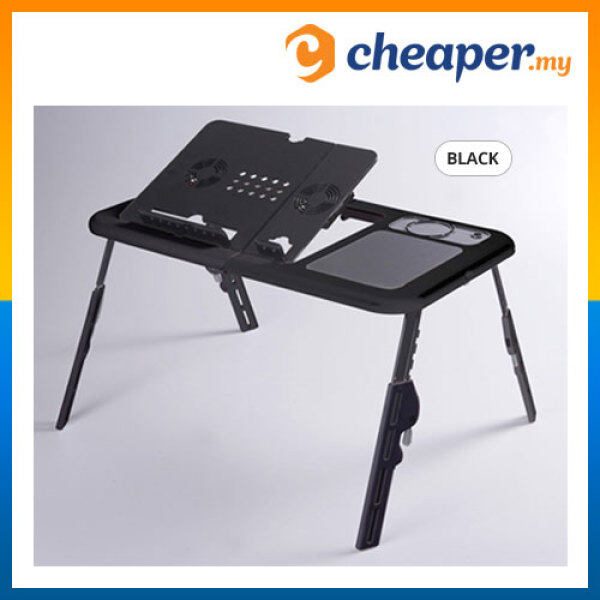 Portable Foldable Laptop E-Table Notebook Desk & Cooler Cooling Fan Malaysia
