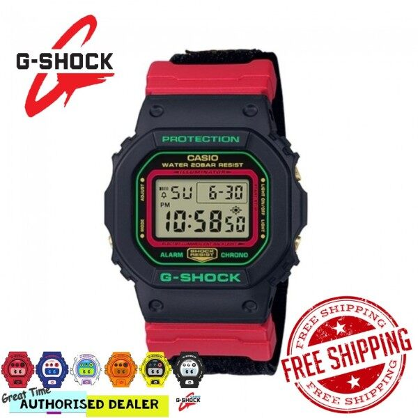 (READY STOCK) Official Marco Warranty CASIO G-SHOCK DW5600THC 1 Special Color Model 100% ORIGINAL Malaysia