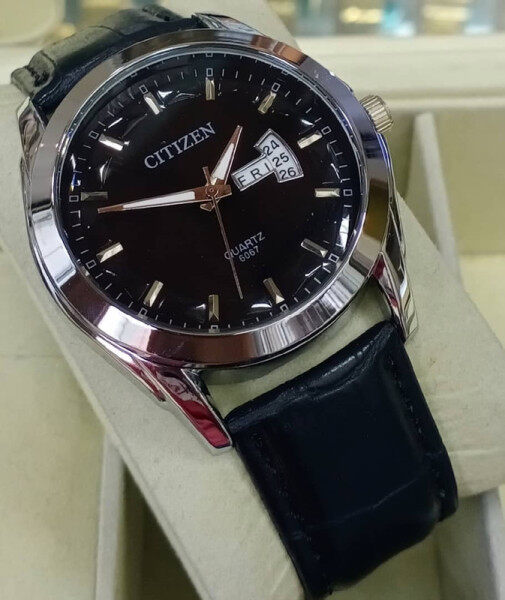 CITIZEN_QUARTZ LEATHER STRAP MEN FASHION WATCH Malaysia