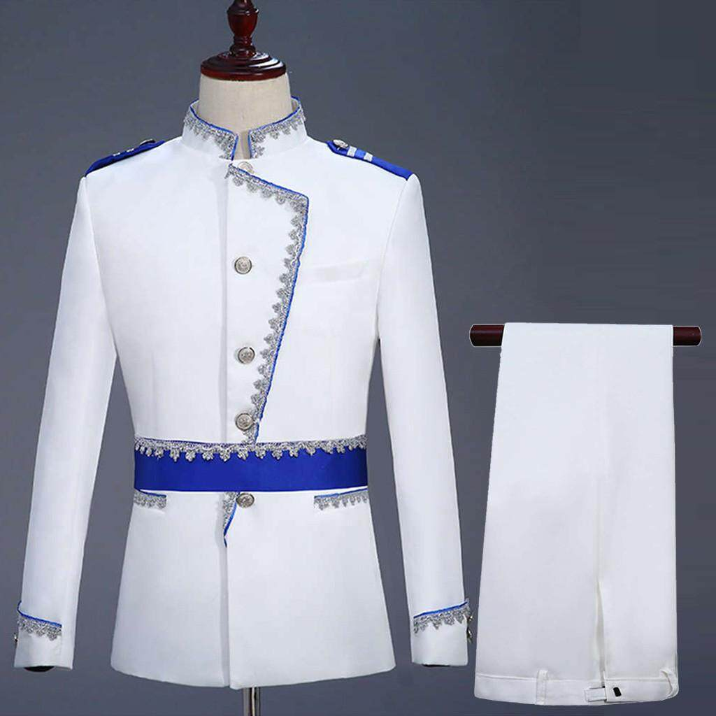 VBB ♣Mens European Style Court Costumes Military Uniforms Performances Suit