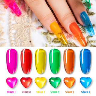 Zhixin Rosalind Amber Glaze Candy 7Ml Rendam UV Polandia Pernis Dekorasi Pernis thumbnail