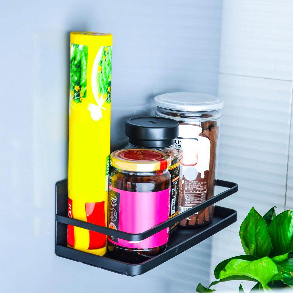 Loviver Magnetic Shelf Rack Refrigerator Storage Container for Kitchen Cabinet, Pantry, Refrigerator, Countertop