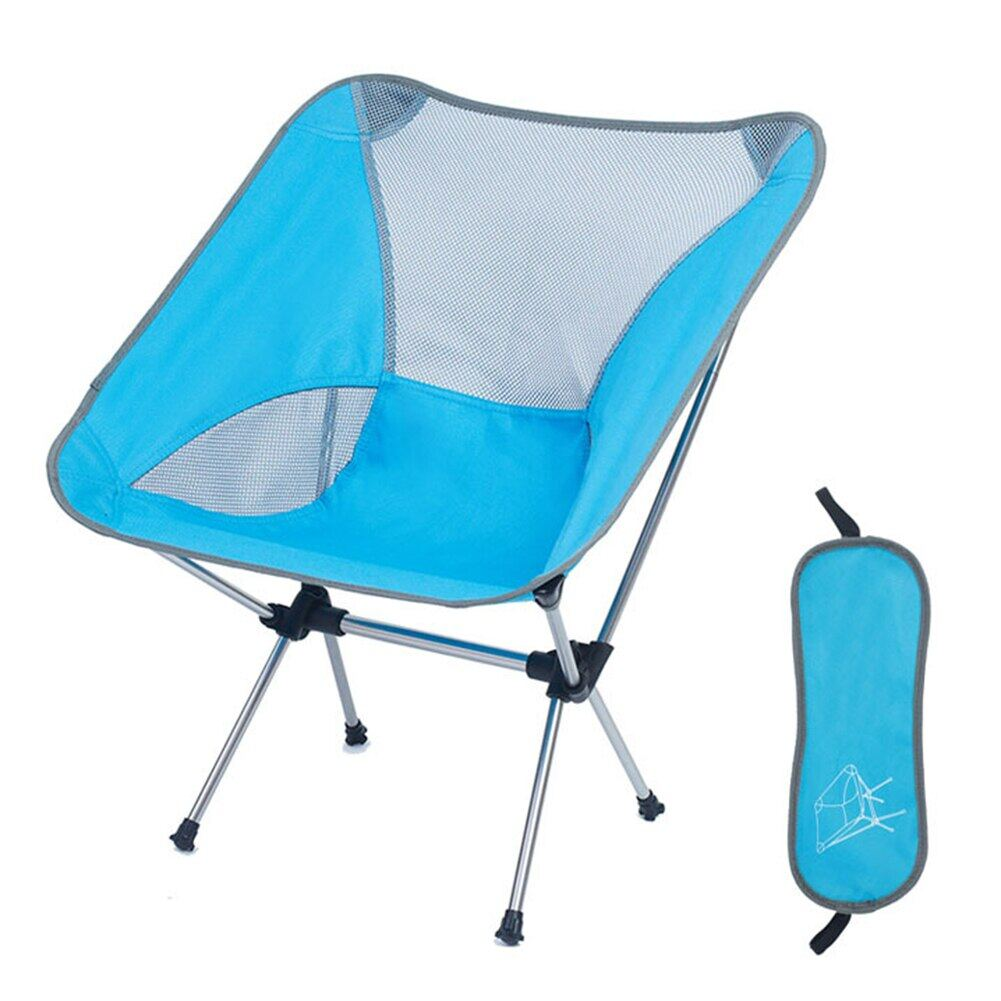 Ultralight Folding Camping Chair Portable Beach Fishing Chair Outdoor Travel Picnic Festival Hiking Backpacking Lightweight