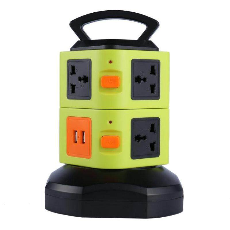 HORI Vertical Multi-socket Two Layers With USB Charger Intelligent Socket UK Plug