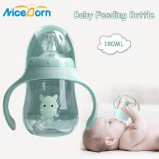 NiceBorn Bình uống nước có nắp chống sặc làm từ nhựa PP BPA an toàn cho trẻ nhỏ, thiết kế có tay cầm tiện dụng, hai loại dung tích 180ML / 240ML