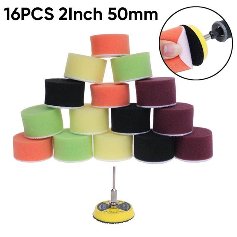 16pcs Multi-Color 2 Pad Buffing Foam Polishing Sponge Pads For Car Polisher Set