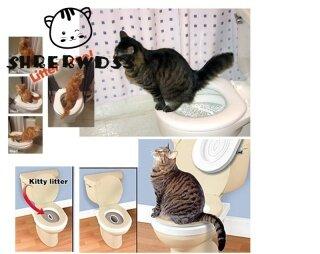 Shrerwdss Bộ Dụng Cụ Tập Ngồi Vệ Sinh Cho Mèo Di Động, Khay Đựng Rác Nguyên Bản Có Củ Cải Mèo thumbnail