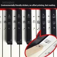 [Jettingbuy] Miếng Dán Đàn Piano Chìa Khóa 54/61/88 Bàn Phím Đàn Piano Trong Suốt, Nhãn Dán PVC Cây Đàn Piano