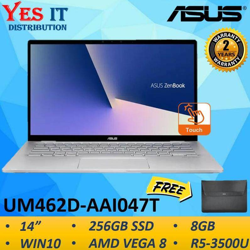 Asus Zenbook Flip 14 UM462D-AAI047T 14 FHD Multi-Touch Laptop Light Grey(R5-3500U, 8GB, 256GBSSD, Integrated, W10, 2YW)--FREE ASUS SLEEVE Malaysia