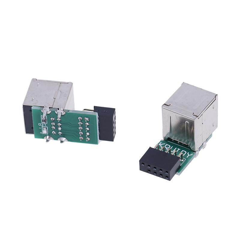 Internal Motherboard 9pin To 2 Port Usb 2.0 A Female Adapter Converter Pcb Board