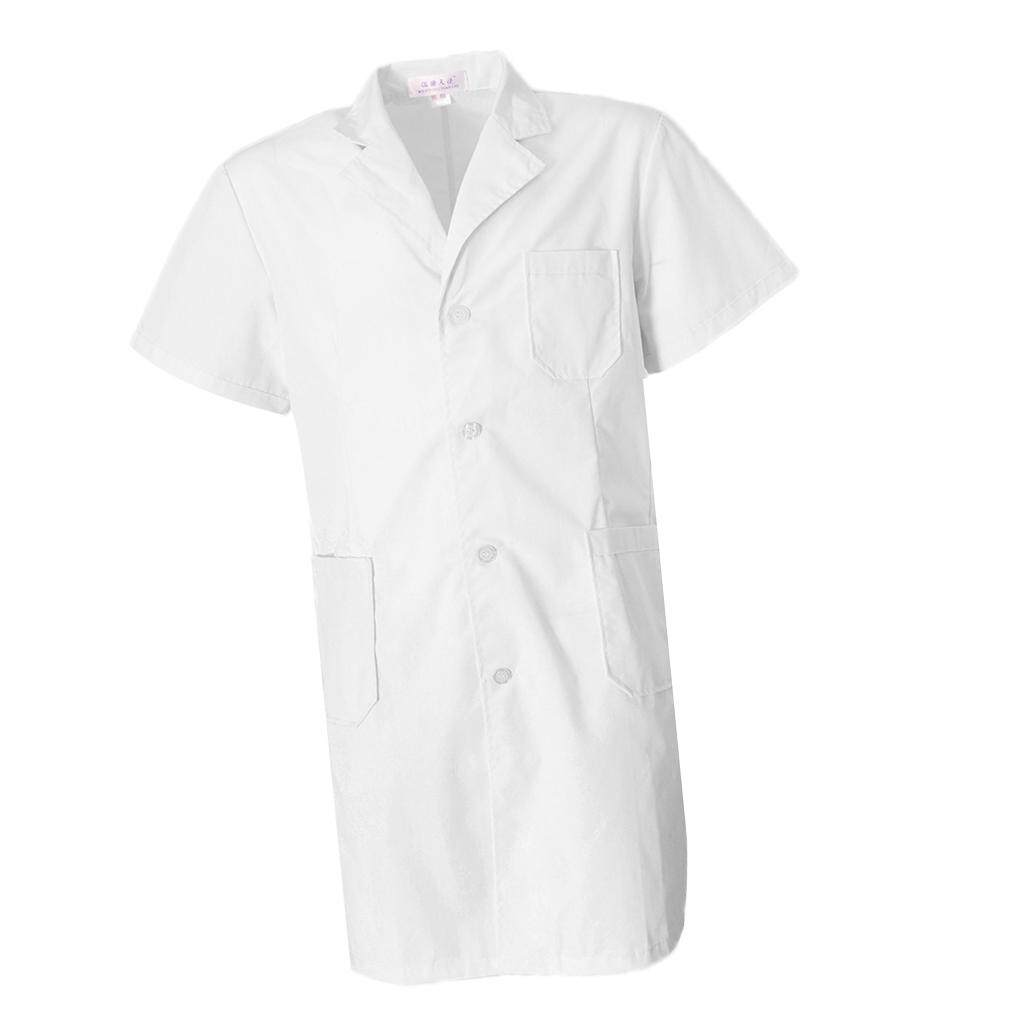 Fenteer Unisex Lab Coat Laboratory Coat Warehouse Coat Doctors Coat