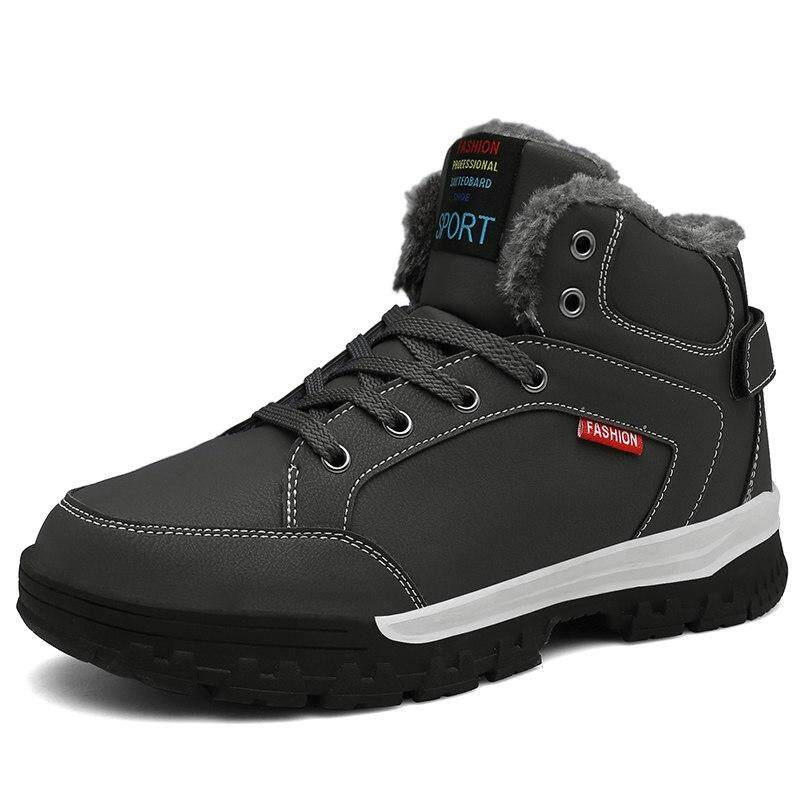 High Top รองเท้าบูทหิมะสวมใส่สบายไซส์ใหญ่สำหรับผู้ชาย 46 กันน้ำผู้ชายรองเท้า Plus Warm รองเท้าขนฤดูหนาวผู้ชาย Slipankle รองเท้า By Outletall.