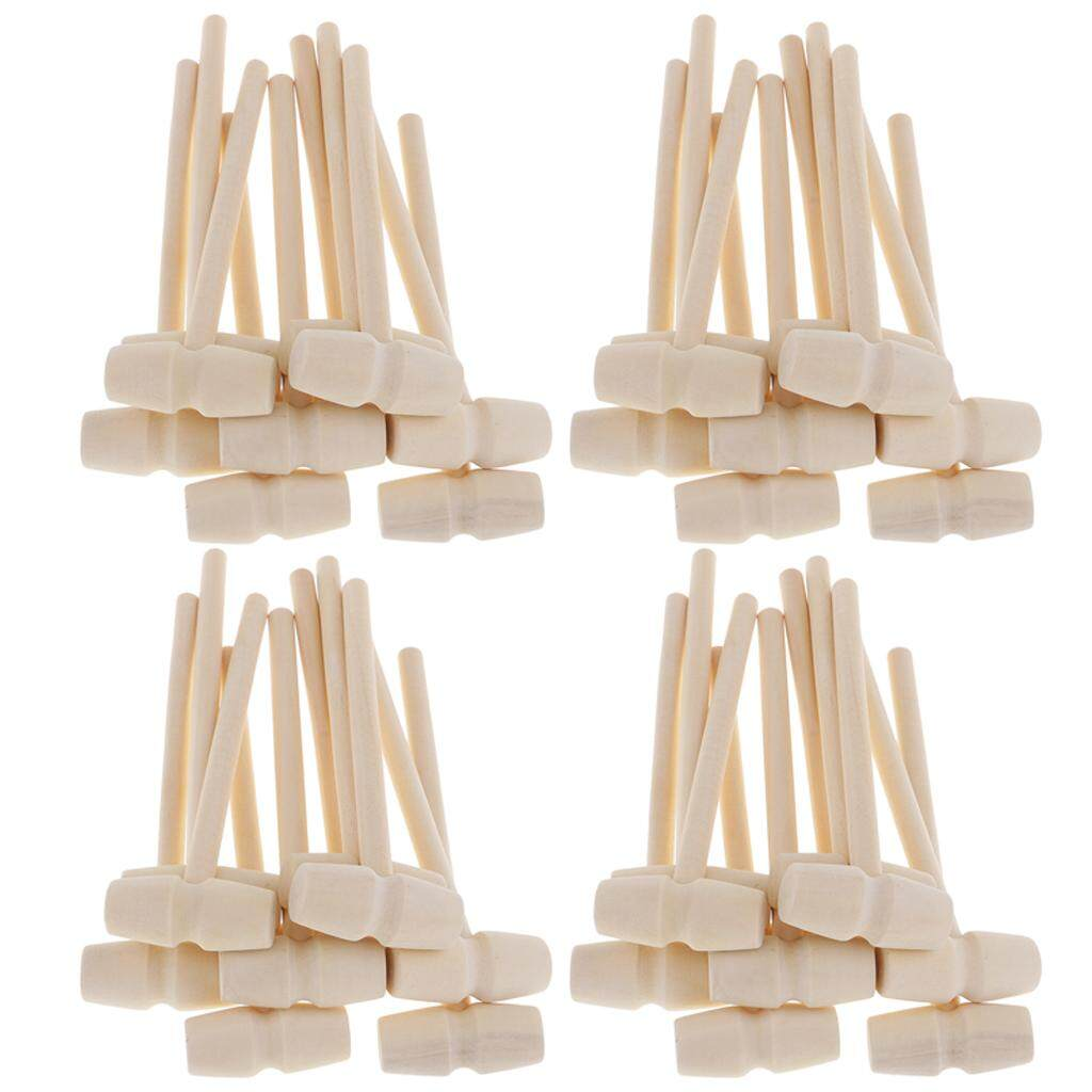 Blesiya 40 Pieces Wooden Hammer Mallet 140x43x19mm Crab Lobster Seafood Crackers