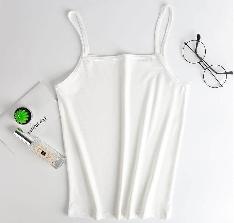 Musim Panas Fashion Wanita Putih Hitam Lembut Nyaman Tank & Camis Wanita Sederhana Seksi Bernapas Atasan Tubuh Pakaian By Nicemeet.