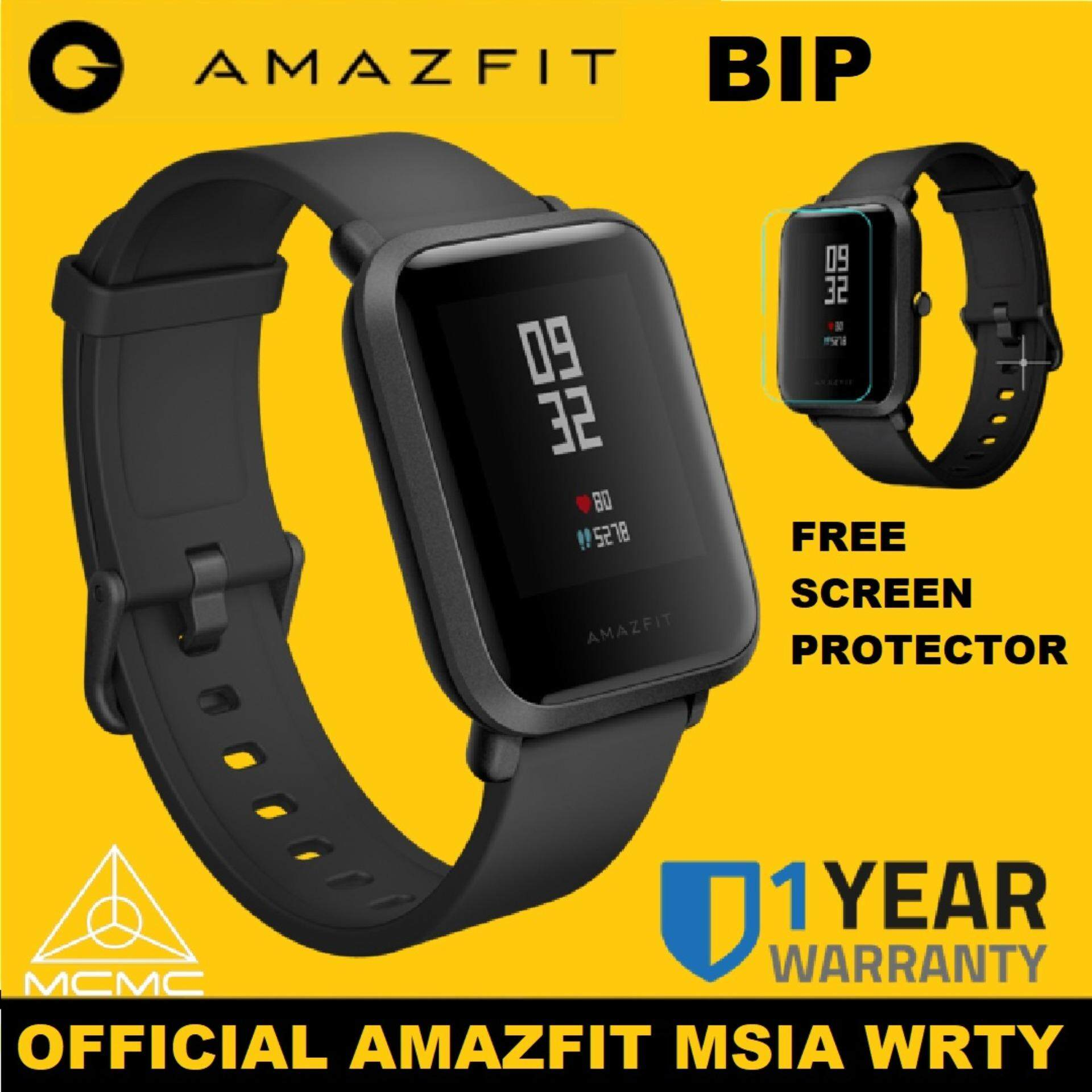 [OFFICIAL AMAZFIT MSIA WRTY] XIAOMI Mi Fit Huami INTERNATIONAL ENGLISH  Amazfit BIP Smartwatch Band 1 28