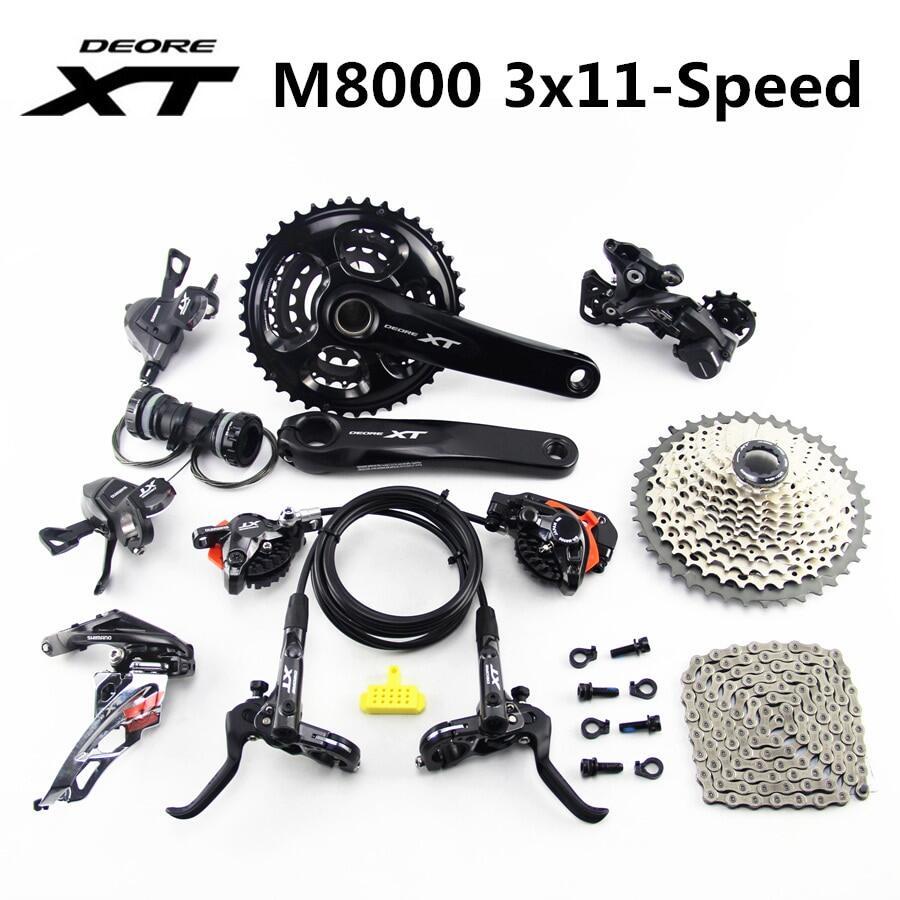 SHIMANO Crankset for MTB DEORE XT FC-M8000 175mm 40-30-22T w//o BB 3x11 Speed