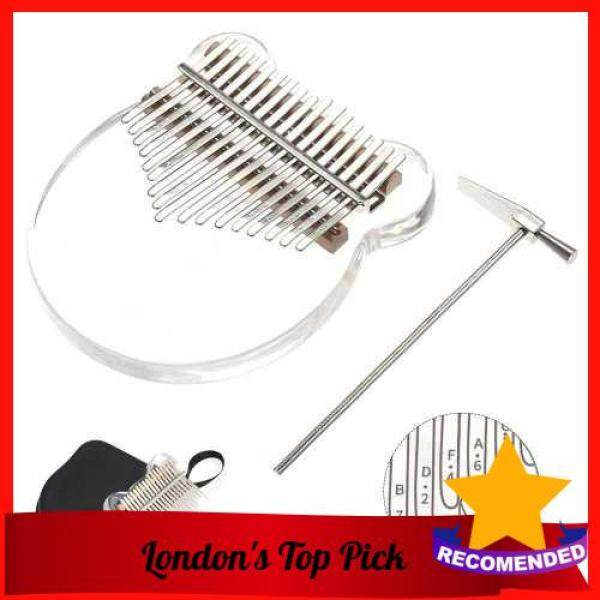 [ London ] 17 Keys Transparent Thumb Piano Kalimba Finger Piano Musical Instrument with Kalimba Case Tune Hammer (Standard) Malaysia