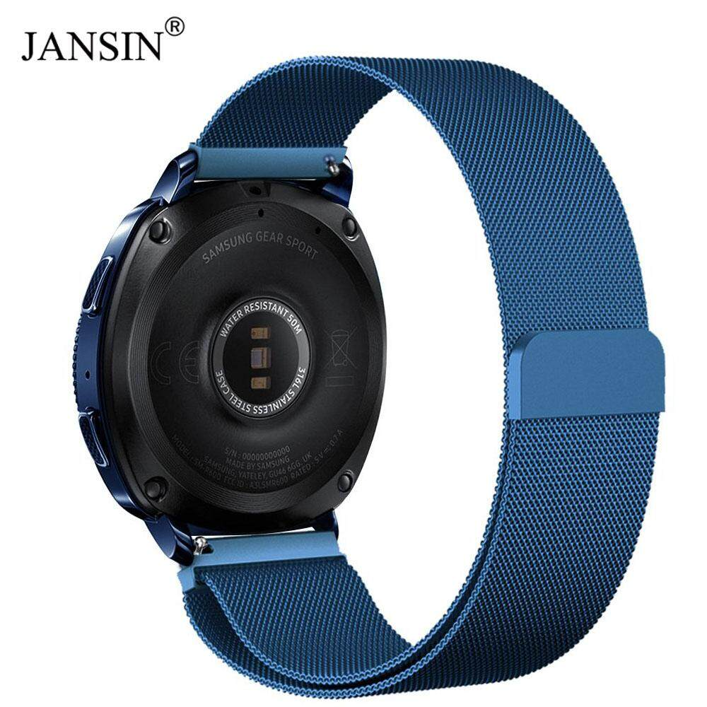 Jansin 22mm Width Stainless Steel Band For Samsung Galaxy Watch 46mm Milanese Wristband Metal Strap