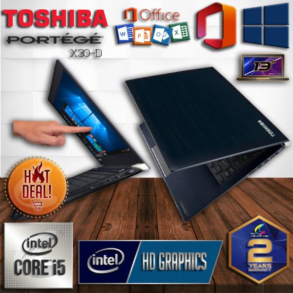 TOSHIBA PORTEGE ULTRABOOK 1.1KG [ FHD TOUCHSCREEN LED- 2 YEARS WARRANTY ] INTEL CORE I5 7TH GENERATION KABYLAKE / 16GB DDR4 RAM 2400MHZ / 256GB SSD M.2 PCIe / WINDOW 10 PRO GENUINE / ULTRABOOK DESIGNED SUPERDUTY PERFORMANCE BUSINESS SERIES Malaysia