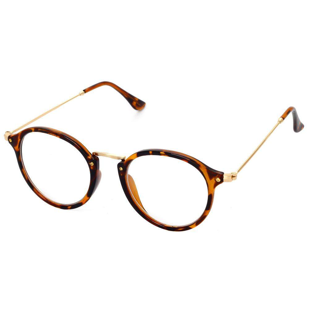 98d36c65c2 Retro Round Eyeglasses for Women Optical 2019 Round Transparent Glasses  Frame for Men Black Half Metal
