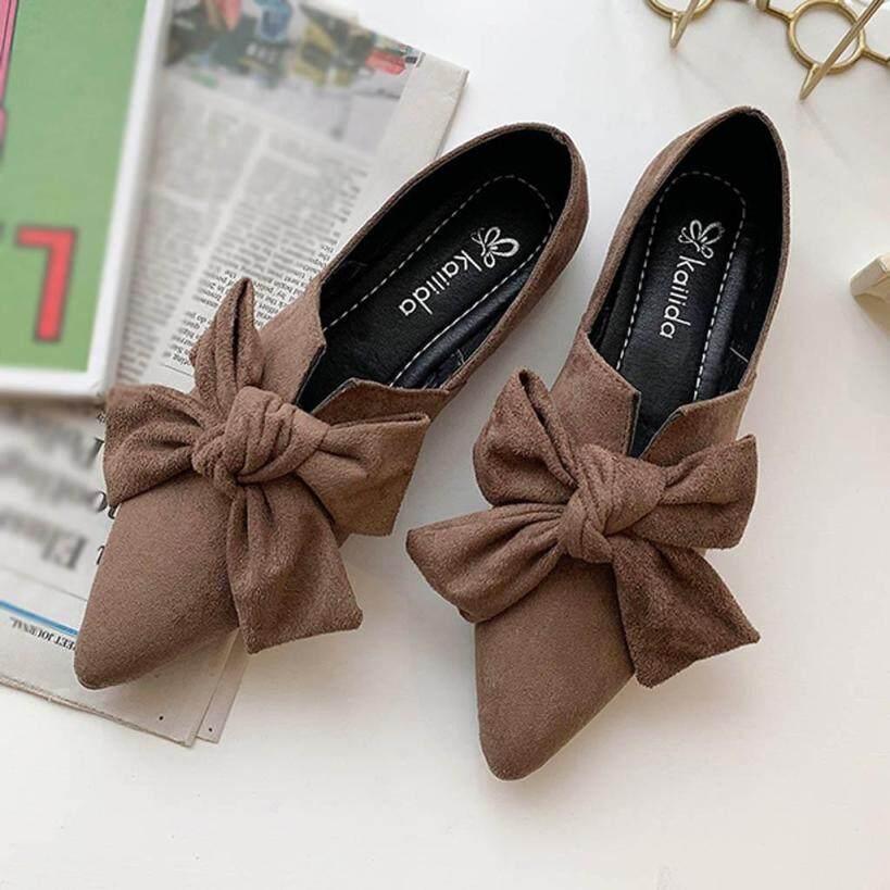 Giày Đế Bệt Nữ WSS Giày Đế Bằng Màu Kẹo Giày Đế Bằng Giày Đế Bệt Ba Lê Giày Nữ giá rẻ