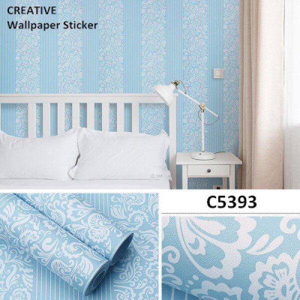 Wallpaper Self-adhesive PVC Sticker 45cm x 10meter Bedroom Living Room Dining Room Kitchen Wall Stickers Ready Stock waterproof Classic Design NEW ARRIVAL