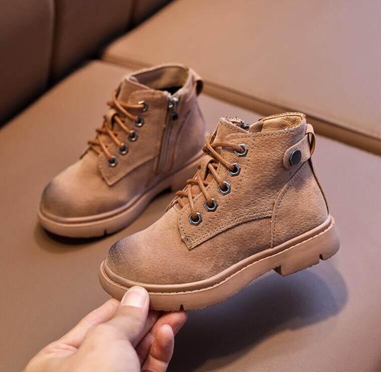 Giá bán Xuân Hạ Thu Đông Giày Sneakers Trẻ Em Giày Bốt Martin Giầy Trẻ Em Bé Trai Bé Gái Ủng Giày Bé Gái Bé Trai Sang Trọng Thời Trang Giày