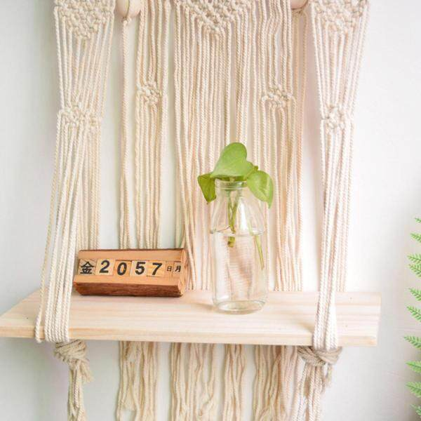 Woven Macrame Boho Plant Hanger Holder Tapestry Wall Hanging Art Home Storage Decor