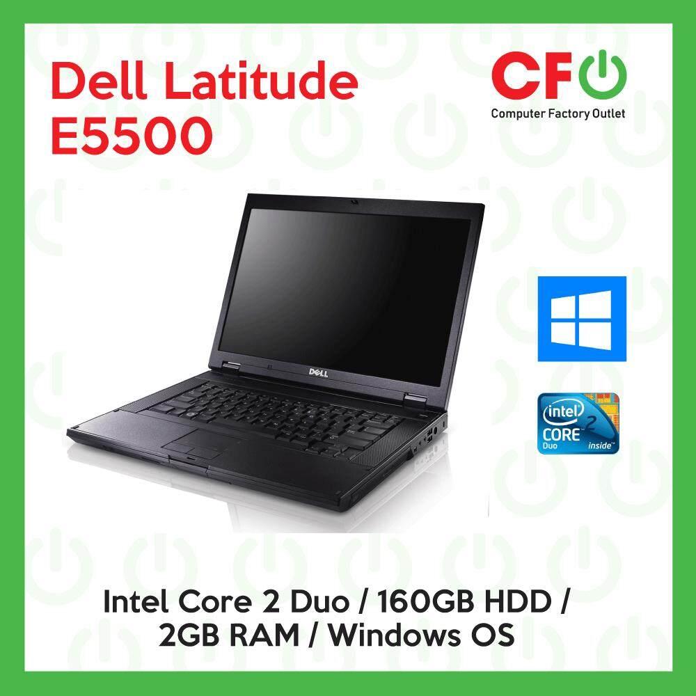 Dell Latitude E5500 / Intel Core 2 Duo / 2GB RAM / 160GB HDD / Windows OS Laptop / 1 Month Warranty (Factory Refurbished) Malaysia