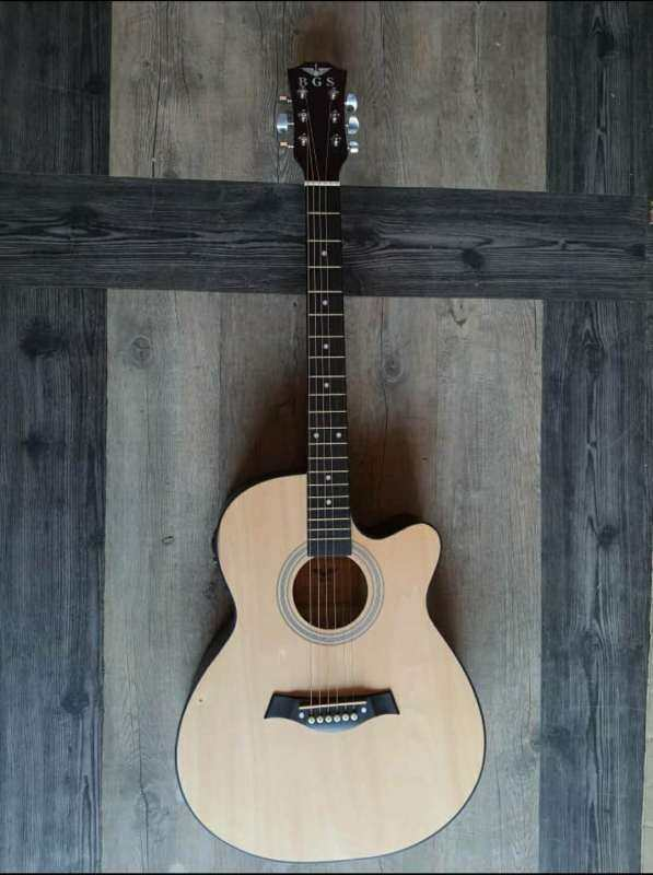 BGS D-41 41 Inch Natural AC Acoustic Guitar with Neck Iron Rod Taylor Design With Pickup EQ + Free Gift Malaysia
