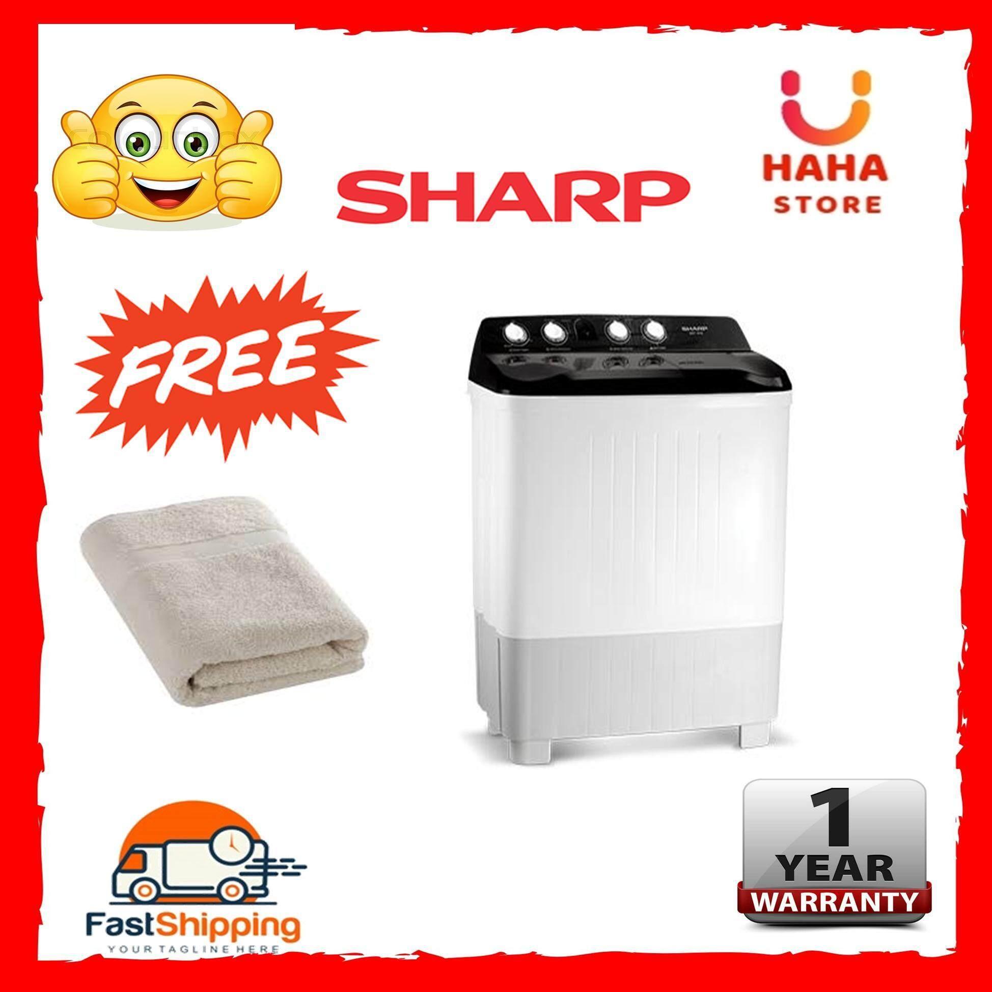 [11.11]SHARP Semi Auto Washing Machine 12KG EST-1216 (Panasonic/Samsung/Khind/Midea/Toshiba/Beko/Sony/LG/Electrolux/Daewoo/Haier)