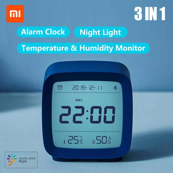 Xiaomi Qingping BT Alarm Clock Temperature Humidity Monitoring Night Light 3 in 1 Multifunctional Clock Work With Mijia APP CGD1