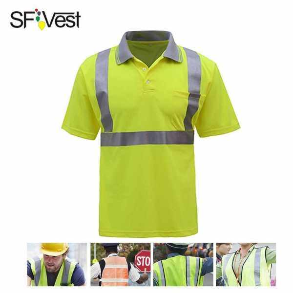 SFVest 4006 Reflective T-shirt Work Safety Clothing Workwear Short Sleeve Reflective Safety Shirt Breathable (L)