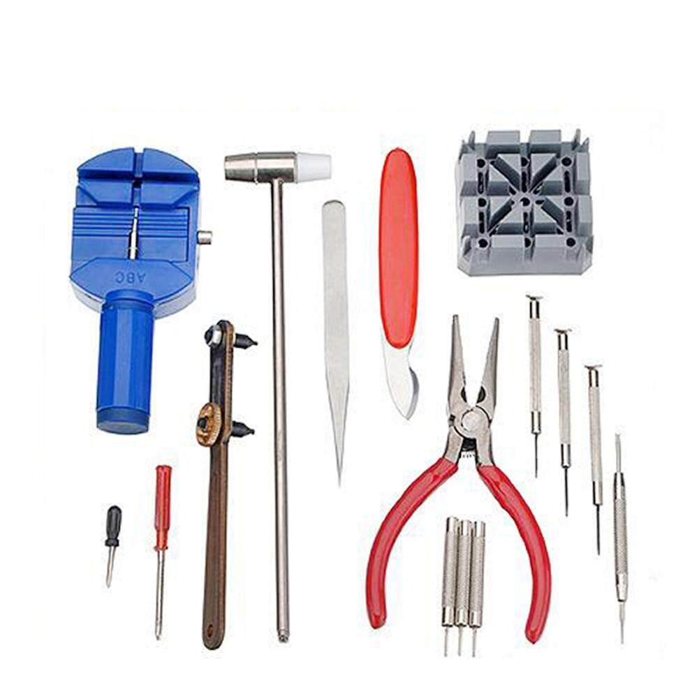 【Fast Delivery】16pcs Watch Repair Tool Watchmaker Kit For Changing Watchband & Replacing Malaysia