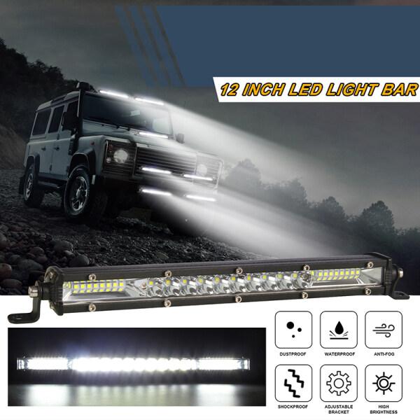 ZHAN 12inch 450W LED Work Light Bar Combo Spot Flood Driving Off Road SUV Boat ATV