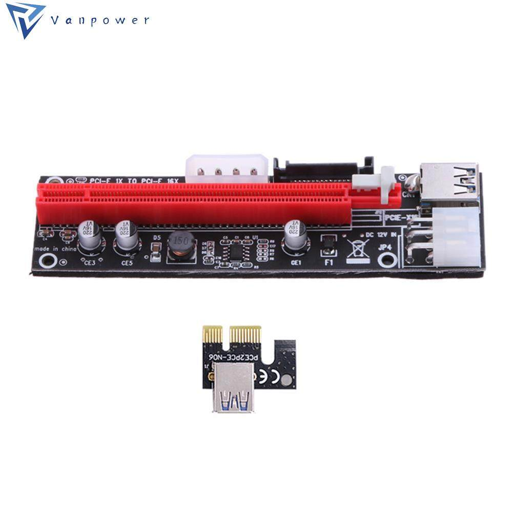 PCI 1X to 16X Extender Riser Card 4Pin 6Pin 15Pin Power Wire for BTC Miner