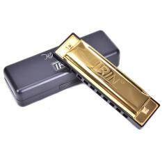 Lofow 10 Lỗ 20 Màu Kèn Harmonica Khóa C Miệng Cơ Quan Diatonic Đàn Hạc Có Hộp Vàng