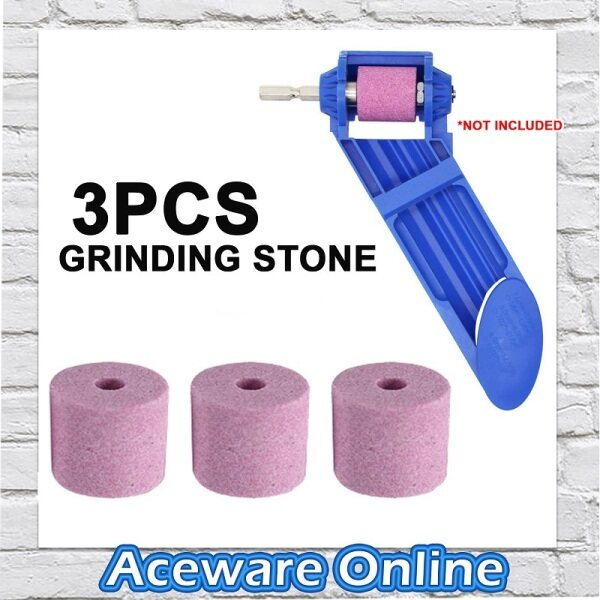 3PCS Portable Drill Bit Sharpener Grinding Stone ONLY Grinder Parts and Accessories Grinder Stone