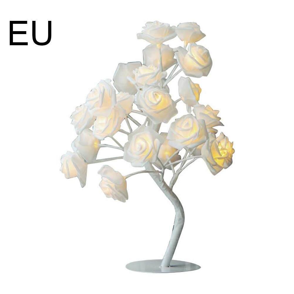 GUO Table Lamp Night Lights Desk 24LEDs  Flower Rose Tree Home Decor Gift