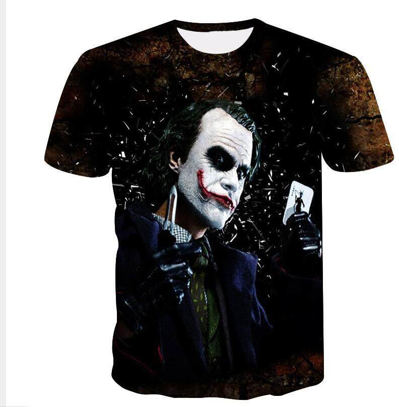 1cd28a8183a BZPOVB Newest Harajuku Joker Poker 3D Print Cool T-shirt Men Women Short  Sleeve