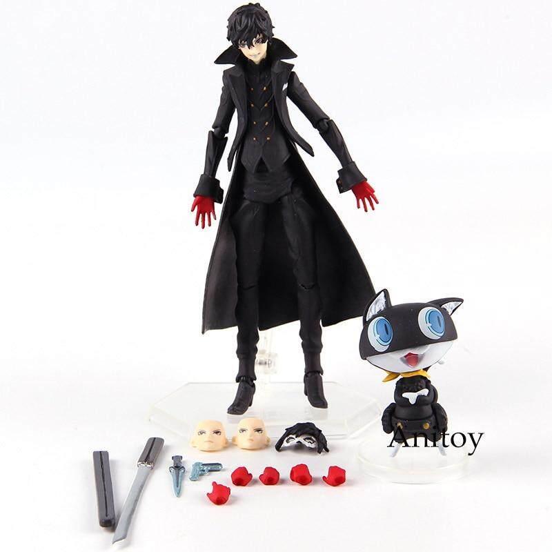 "Figma 363 Persona 5 Shujinkou /& Morgana Joker Action PVC Figure 6/"" Toy New"