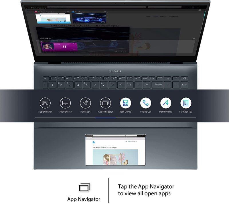 "ASUS ZenBook 15 Ultra-Slim Laptop, 15""FHD Touch Display, Intel Core i7-10750H, GeForce GTX 1650 Ti, 16GB RAM, 1TB SSD, Innovative ScreenPad 2.0, Thunderbolt 3, Windows 10 Pro Malaysia"