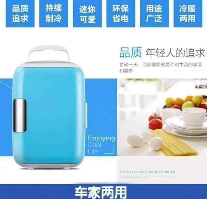 4L Portable Mini Fridge Car Cooler Freezer Cooler Warm Travel Refrigerator 迷你冷藏小冰箱车载家两用小型冰箱 X8116007M