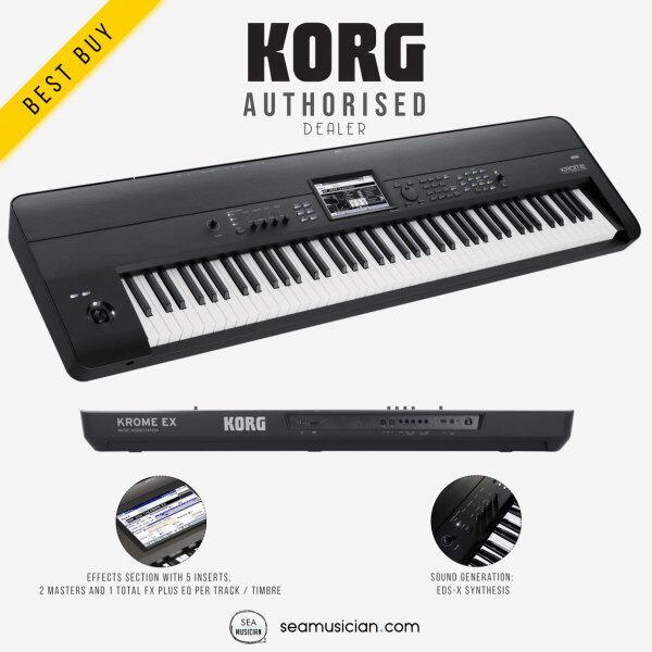 KORG KROME 88 EX 88-KEYS KEYBOARD SYNTHESIZER MUSIC WORKSTATION (KROME-88 KEYS/ ARRANGER WORKSTATION/ SEAMUSICIAN) Malaysia