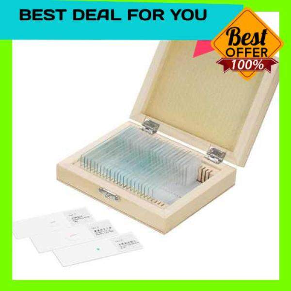 HOT SELLING KKmoon 25pcs/set Prepared Microscope Slides Animal Plants Insects Tissues Specimens Slides Set with Wooden Case for Basic Biological Science Education (Standard) Malaysia