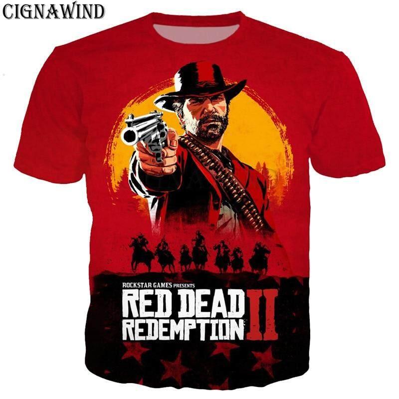 a46dd51bf2b Fashion Popular hot game red dead redemption 2 t shirt men women 3D print t