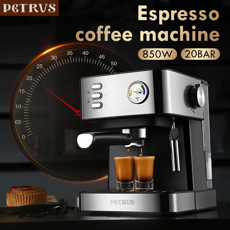Petrus PE3380B Small Automatic Espresso Coffee Machine ...