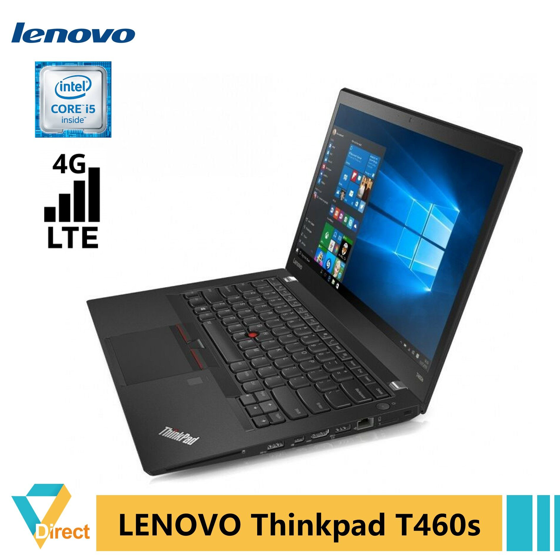 4G LTE 1.36kg DUAL battery 6th gen Core i5 UP to 20GB RAM 1TB SSD Thinkpad T460s laptop PC -also 8GB 480GB 1TB SSD fully refurbished Malaysia